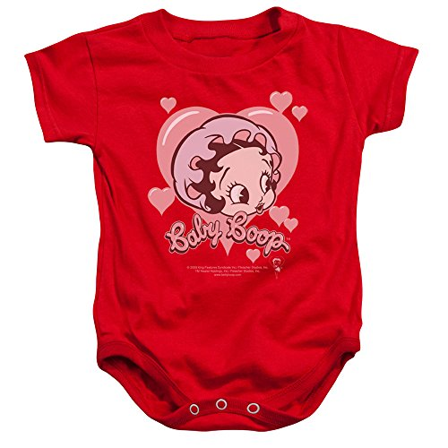 Betty Boop Baby Romper Infant Creeper Baby Heart Red, for sale  Delivered anywhere in USA