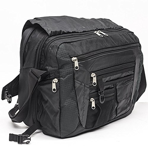 NorthStar Portal Messenger Bag with Dual Cushioned Laptop & Tablet Compartments by NorthStar
