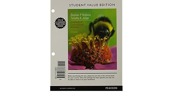 Amazon.com: Essentials of Organizational Behavior, Student Value ...