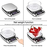 Digital Food Scale Multi-Function Kitchen Scale Household Baking Electronic Scale 10kg Stainless Steel