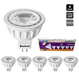 6 Pack MR16 LED Light Bulb Non Dimmable, 90% Energy Saving, 6000K Cool White, 40 Degree, AC/DC 12V, 5 Watts, 50W Halogen Bulb Equivalent, GU5.3 Base, by Boxlood