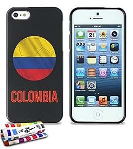Carcasa Flexible Ultra-Slim APPLE IPHONE 5S / IPHONE SE de exclusivo motivo [Balon de futbol Argentina] [Negra] de MUZZANO  + ESTILETE y PAÑO MUZZANO REGALADOS - La Protección Antigolpes ULTIMA, ELEGANTE Y DURADERA para su APPLE IPHONE 5S / IPHONE SE