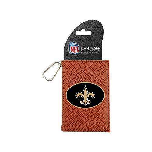 NFL New Orleans Saints Classic Football ID Holder, One Size, Brown