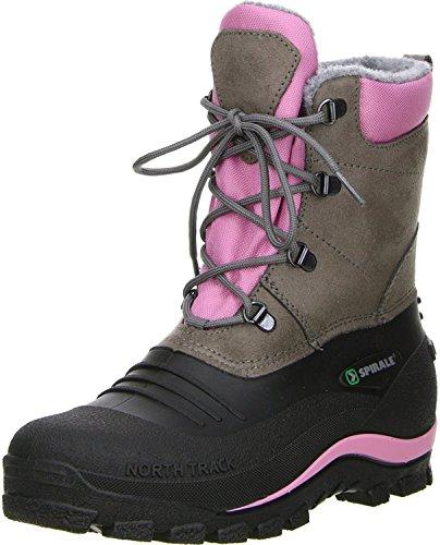 UK Damen Damen 01 Ros Schneestiefel Pink 99305 3 Größe Blk Spirale Gra qPUtwUd