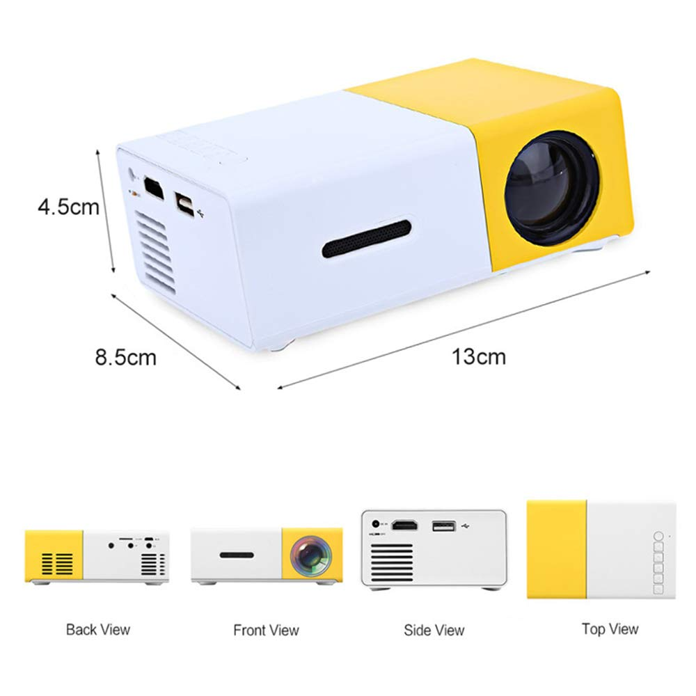 Pico Projector - Proyector de Video LED portátil 600 Lux Full HD ...