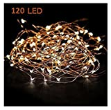Tools & Hardware : Starry String Lights Warm White Color LED's on a Flexible Copper Wire - LED String Light with 120 Individually Mounted LED's, 20ft
