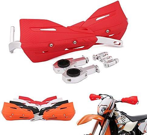 Handprotektoren Handschutz Handschutz Universal 7 8 Zoll 22 Mm Und 1 1 8 Zoll 28 Mm Für Yamaha Kawasaki Suzuki Für Honda K T M Atv Pit Dirt Bike Motorrad Rot Auto