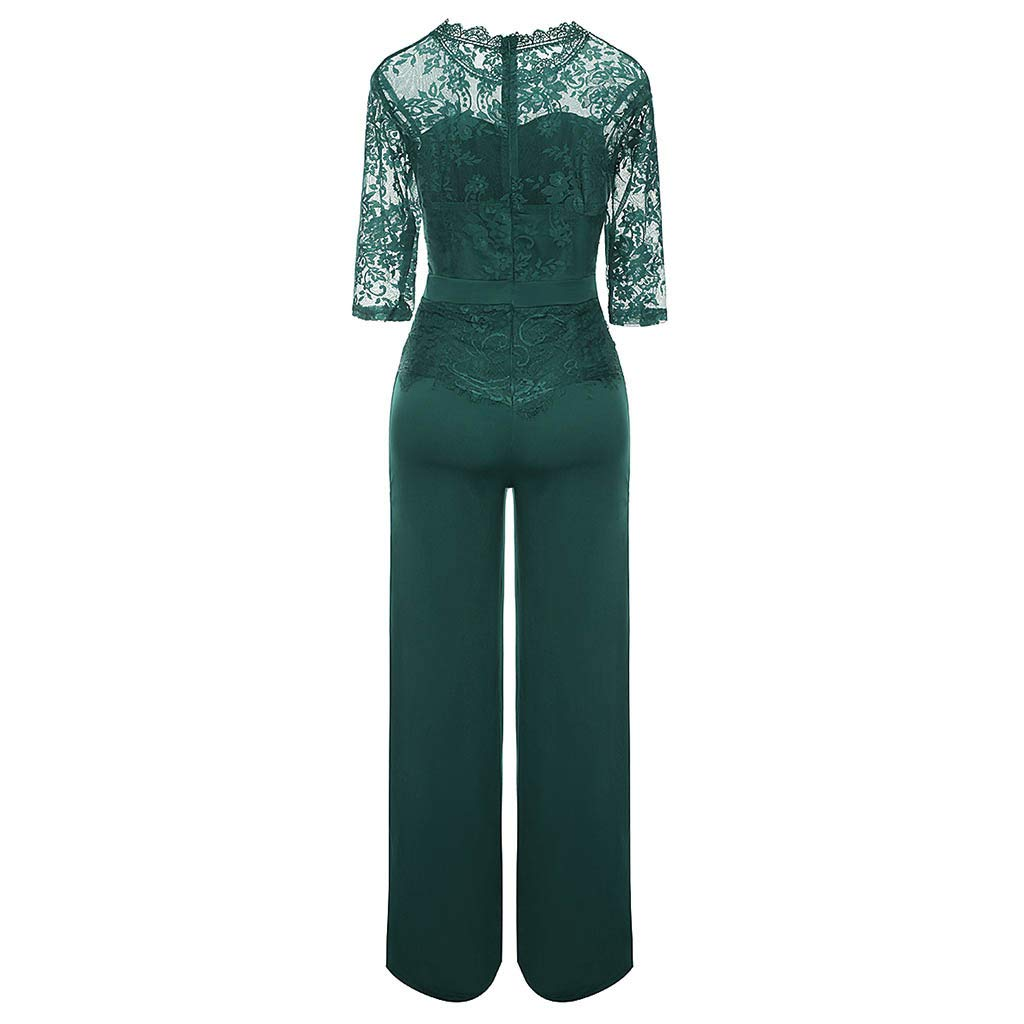 UMei 2019 Jumpsuit for Women Lace Solid Casual Playsuit Fashion Formal Party and Evening Casual Beach Summer Rompers