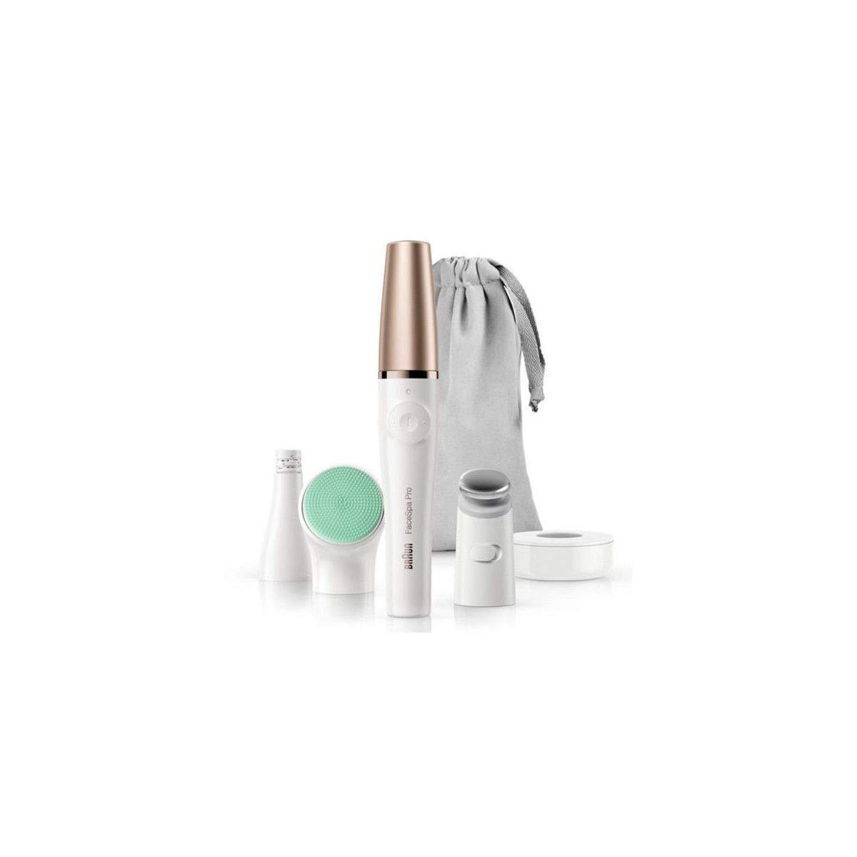 Braun FaceSpa Pro 913 Bronce, Blanco - Depiladora (Bronce, Blanco, Chin, Frente, Labio superior, 0,5 mm)