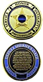 Deputy Sheriff's Oath - Thin Blue Line Challenge Coin - Individual by PoliceTees