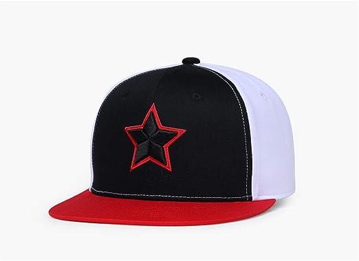 Yizhu Moda Estrella patrón Gorras de béisbol 3D Bordado Negro ...