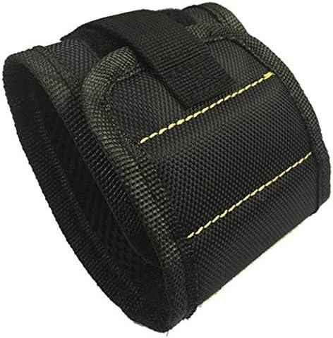磁気リストバンド 6個 リストバンド 超強力磁石内蔵 全2タイプ - ブラック