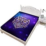 Jessy Home Owl Bed Sheet King Size,Bedroom Decor Gifts for Girls,Purple