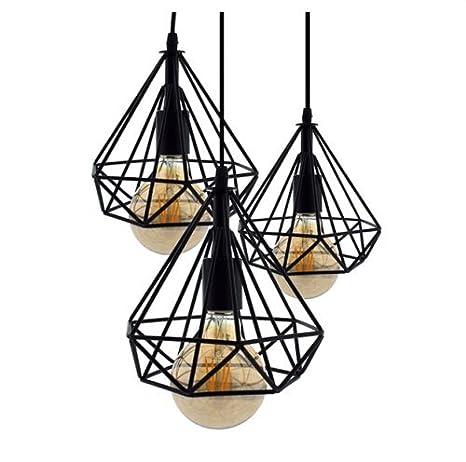 Lámpara de techo Vintage 3L Cage Mejor Precio para la decoracion del salon, comedor, restaurante