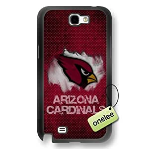 NFL Arizona Cardinals Team Logo Samsung Galaxy Note 2 Black Rubber(TPU) Soft Case Cover - Black by mcsharks