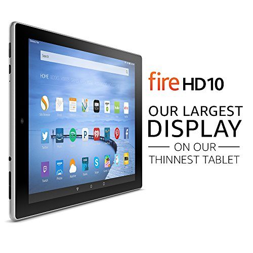 Amazon Fire HD 10 10 Inch Tablet 16GB Silver Aluminum product image