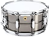 """Ludwig LB417 Black Beauty 6.5"""" x 14"""" Smooth Brass Snare Drum with Imperial Lugs"""