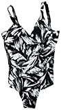 Miraclesuit Womens Slimming Metallic One-Piece Swimsuit B/W 16