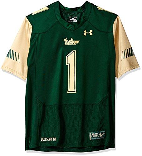 Under Armour NCAA South Florida Bulls FG146891A12 Childrens Official Sideline Jersey, Medium, Dark Green