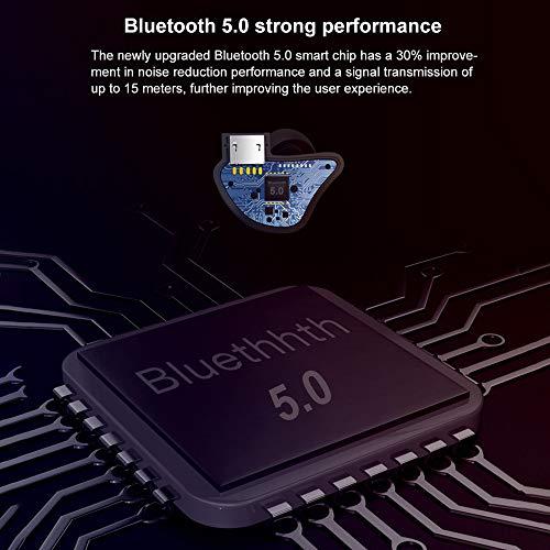 Mini Bluetooth 5.0 Earbuds Sport True Wireless Bass Twins Stereo In-Ear Earphone LandFox (Unisex 80's Wig)