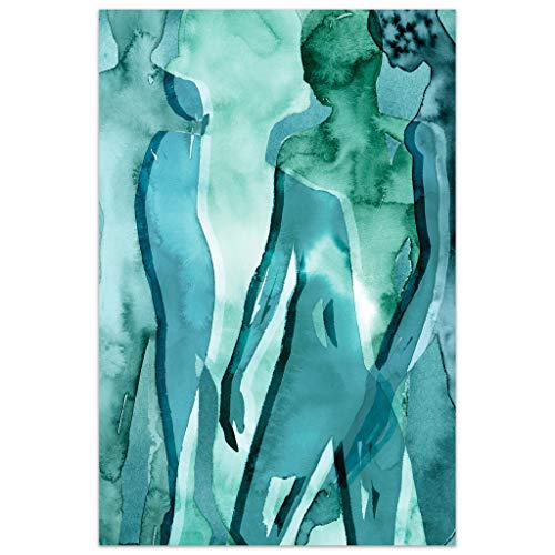 Empire Art Direct Human Abstract Art,Frameless Tempered Glass