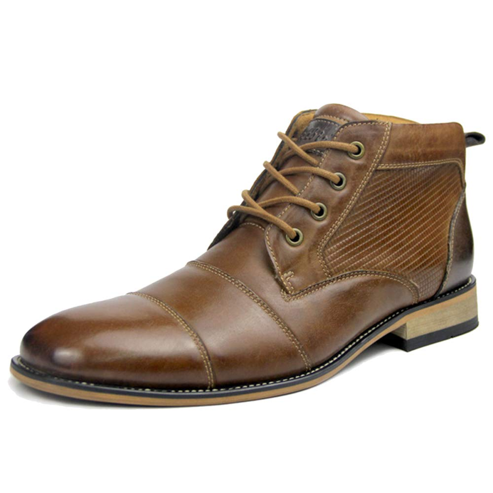 MERRYHE Echtes Leder Martin Stiefel Stiefel Stiefel Für Männer Business Formelle Kleidung Schuhe Runde Zehe Lace-Up Side Zip Ankle Stiefel Wandern Arbeitsschuh da8f02