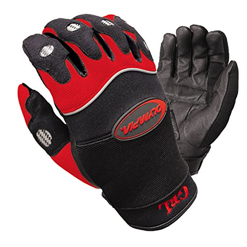 Olympia 710 Gel Reflector Motorcycle Sport Gloves (Black/Red, Medium) (Olympia Gel)