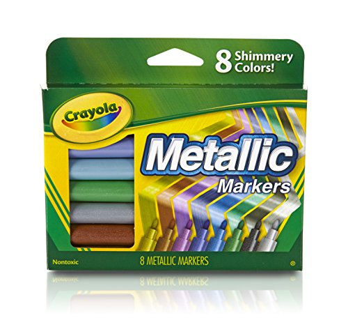 Crayola Metallic Markers, 8 Count