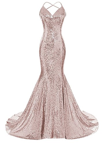 backless prom dress with straps - 9