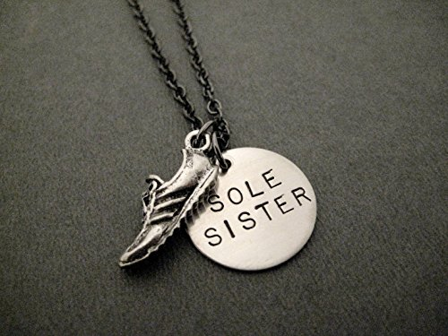 sole-sister-necklace-pewter-running-shoe-charm-with-hand-stamped-round-nickel-silver-charm-on-18-inc