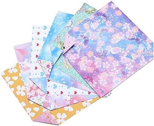 144枚のカラフルな正方形の折り紙のペーパークラフト折りたたみペーパー #21