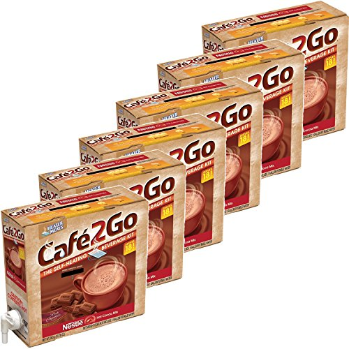 Cafe2Go Self-Heating Beverage Kit - Hot Cocoa - 6 pk. by MegaDeal