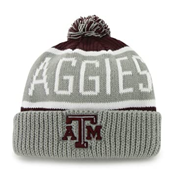 Texas A M Aggies Gray Calgary Beanie Hat with Pom - NCAA Cuffed Winter Knit  Toque Cap by Brand 47  Amazon.co.uk  Sports   Outdoors 62cba49c4339
