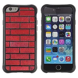 WAWU Funda Carcasa Bumper con Absorci??e Impactos y Anti-Ara??s Espalda Slim Rugged Armor -- brick wall red rebel pattern law floyd -- Apple Iphone 6 PLUS 5.5