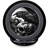 Skinit Skull & Bones Fast Charge Wireless Charging Stand Skin - Alchemy - Poe's Raven Art Skin
