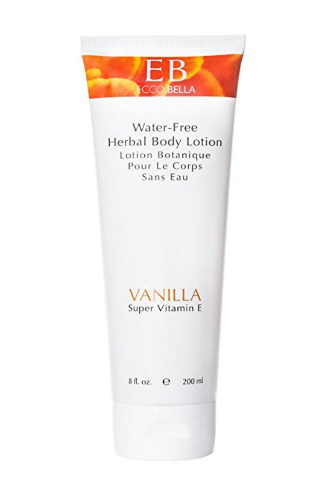 Ecco Bella Organic Vanilla Herbal Body Lotion with 7 Organic Oils and Butters - Water-Free, Natural Moisturizer, 8 ounce