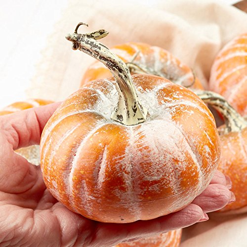 Factory Direct Craft 6 Festive Yellow Orange Mini Pumpkins by Factory Direct Craft