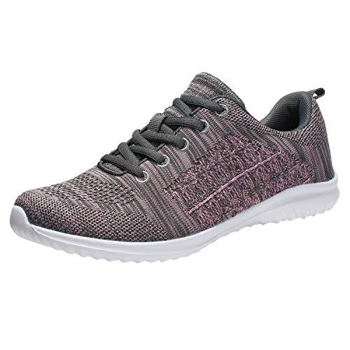 YILAN Women's Fashion Sneakers Casual Sport Shoes (9 B(M) US, Grey-5) (Fashion / Apparel Womens Sport)