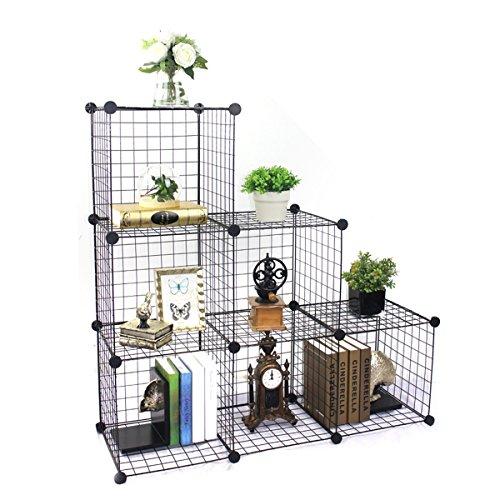 BRIAN & DANY Metal Wire Storage Cubes Modular Shelving Unit DIY Metal Grid Closet Organizer System,Storage Organizer