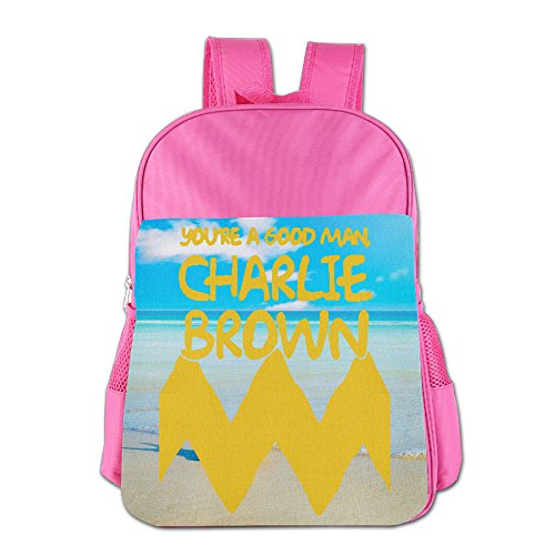 Brown Costume Children's School Bag For 4-15 Years Old (2 Colors) (Charlie Brown Ghost Halloween Costume)
