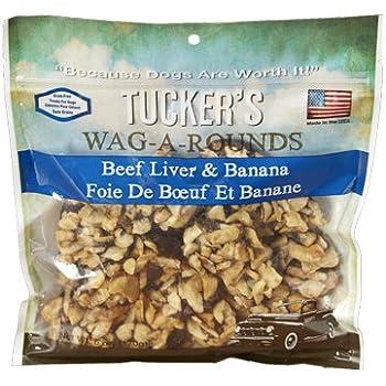 Amazon.com : Tuckers Wag-A-Rounds Beef Liver & Banana Dog