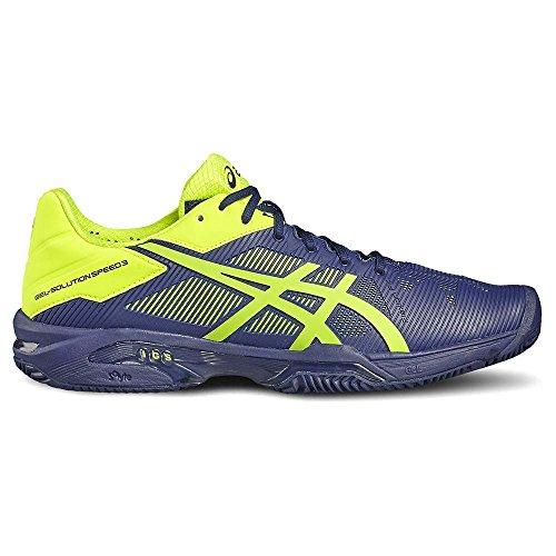 Chaussures Asics Gel-solution Speed 3 Clay INDIGO BLUE/SAFETY YELLOW