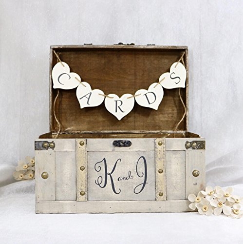 Personalized Wedding Card Box, Personalized Vintage Card Trunk, Vintage Wedding Card Box, Keepsake Box, Wedding Card Box, Card Box