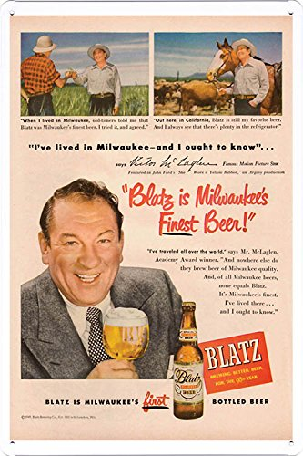 Blatz Beer is Milwaukee's Finest Beer Tin Poster by Food & Beverage Decor Sign