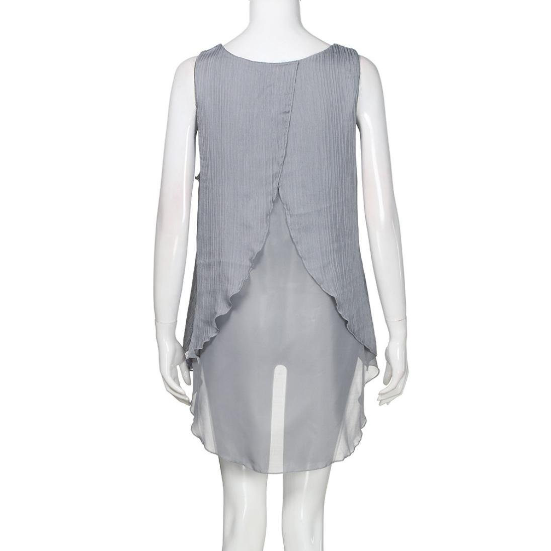 Blusas Para Mujer Rawdah Camiseta De Chifón con Volantes De Mujer ...
