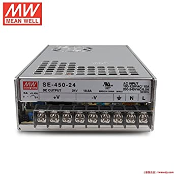 MEAN WELL SE-450-24 450W Power Supply AC to DC 24V SMPS: Amazon.com ...