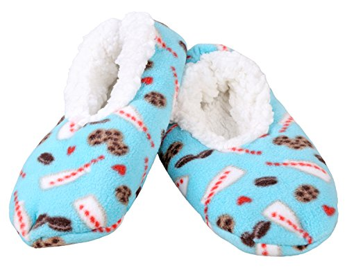 5a3a840116f8 Snoozies Dip Dyed Print Fleece Lined Womens Footies - Buy Online in ...