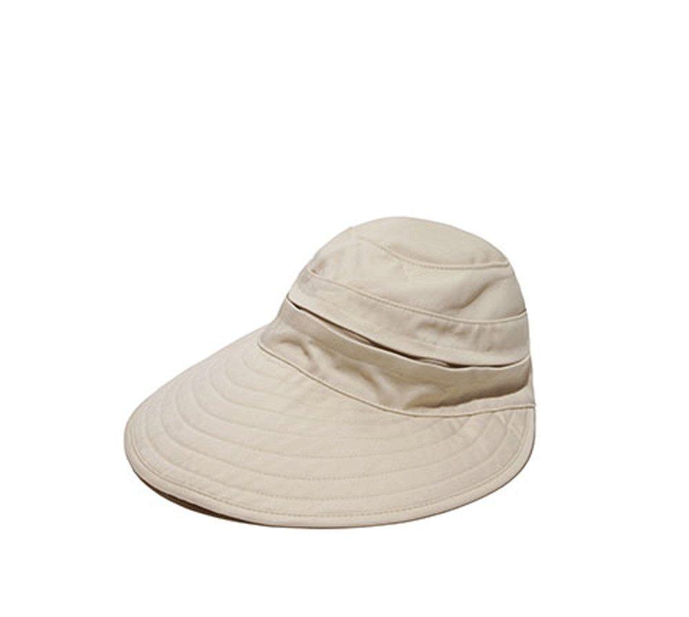 Physician Endorsed Womens Naples Khaki Cotton Cap / Visor