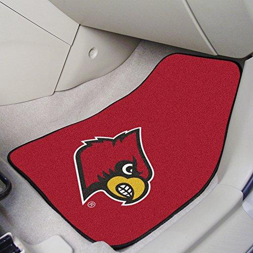 (FANMATS NCAA University of Louisville Cardinals Nylon Face Carpet Car Mat)