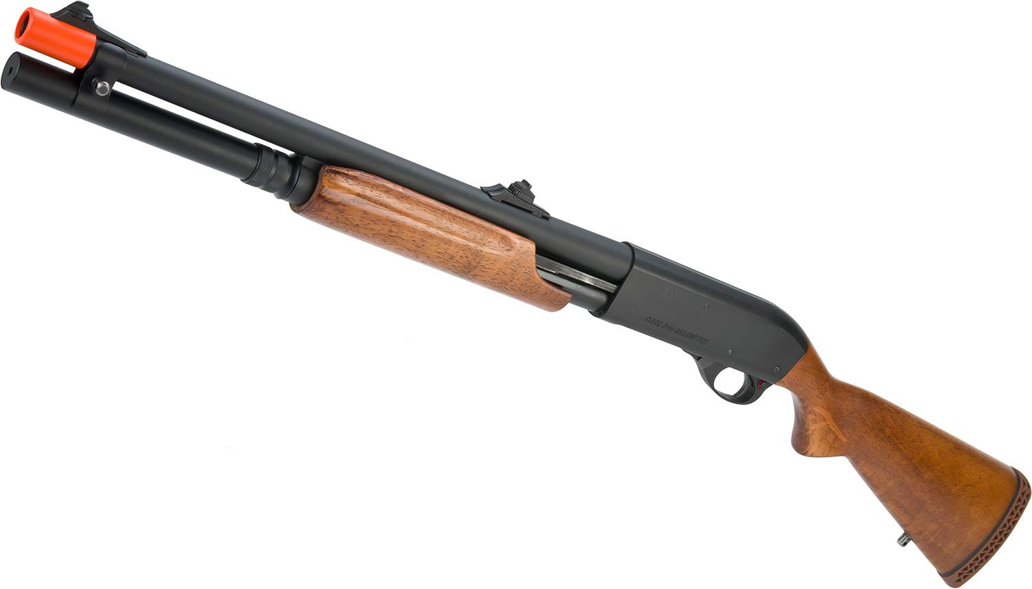 Evike APS CAM870 Shell Ejecting Tactical Pump Action Gas Airsoft MKII Shotgun (Model: Wood) by Evike